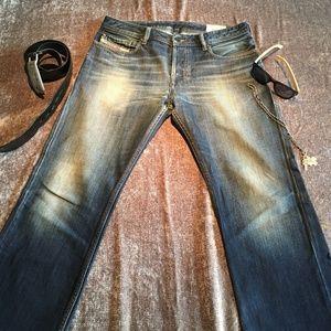 DIESEL BLUE JEANS! Zatiny Model, Wash 008JA, 30x30